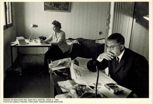 DeBeauvoir and Sartre Caption