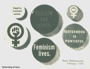 1970 Buttons Mademoiselle Redstockings Archives Feminist Revolution