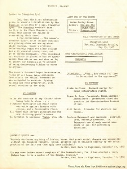 1968-06, Roz's Page, Notes From the First Year, NY Radical Women