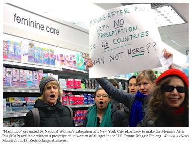 2013-03-27flash mob,crd+cap,Ros Baxandall,left,National Womens Liberation.jpg